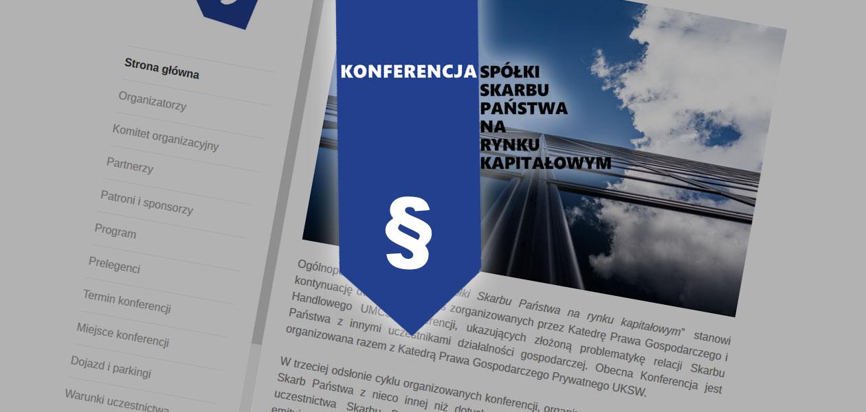 """Konferencja naukowa """"Spółki Skarbu Państwa na rynku kapitałowym"""""""